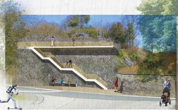 Entwurf Treppenanlage Kurpark